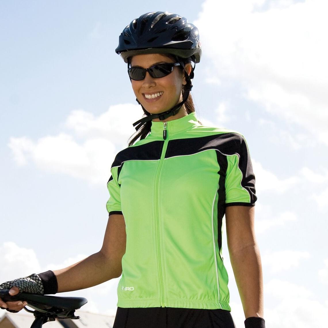 Ladies Women Spiro Bikewear Cycling Cycle Performance Lightweight Full Zip Top